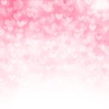 Vector background with beautiful pink hearts Stock Photos