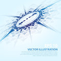 Vector background with blue compass illustration Royalty Free Stock Photography
