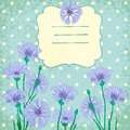 Vector background with blue cornflowers vignette Royalty Free Stock Photo