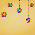 Vector background with christmas decoration balls hipster style Stock Image