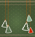 Vector background for Christmas and New Year. Christmas trees ha