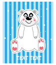Vector background of a cute polar bear illustratio Stock Photography