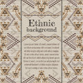 Vector background design. Ethnic tribal geometric pattern. Aztec ornamental style Royalty Free Stock Photo