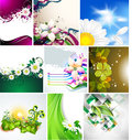 Vector background for design with flowers Royalty Free Stock Photos