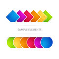 Vector background with elements colored Royalty Free Stock Photo