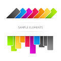 Vector background with elements colored Stock Photos