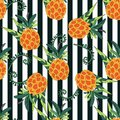stock image of  Vector background. Exotic plants on a striped background. Vintage style