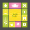 Vector background happy easter Royalty Free Stock Photos