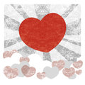 Vector background with heart grunge Royalty Free Stock Images