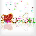Vector background with hearts christmas Royalty Free Stock Image