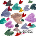 Vector background from hearts like watercolors Royalty Free Stock Images