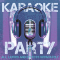 Vector background for karaoke party with microphone and headphones Royalty Free Stock Photo