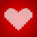 Vector background knitted heart Royalty Free Stock Photo