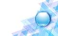 Vector background modern blue tech innovation concept and metallic button