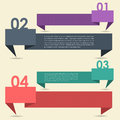 Vector Background Number Options Banner & Card Royalty Free Stock Photos