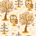 Vector background with owls. Stock Image