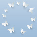 Vector background with paper butterflies Royalty Free Stock Images