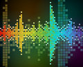 Vector background of rainbow colored mosaic Stock Image
