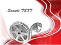 Vector background with a reel of film Royalty Free Stock Photo