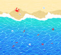 Vector background with sea surf