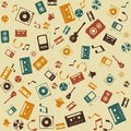 Vector background seamless. Retro Music sound. Stock Photos
