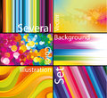 Vector background set Stock Images