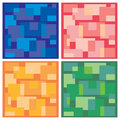 Vector background, tiles in four colors Royalty Free Stock Photo