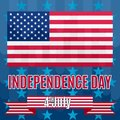 Vector Background to the day of independence america colorful