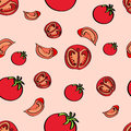 Vector background with tomatoes illustration Royalty Free Stock Photography