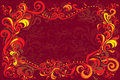 Vector background with traditional russian decor