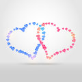 Vector background two hearts Royalty Free Stock Photography