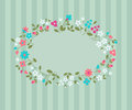 Vector background with wild flowers Royalty Free Stock Images