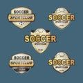 Vector badge football banners highlight club Royalty Free Stock Photos