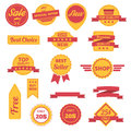 Vector badges labels, stickers and ribbons Royalty Free Stock Photo