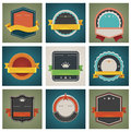Vector badges set Royalty Free Stock Photos