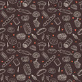 Vector bakery seamless pattern. Hand drawn collection. Backgroun