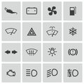 Vector balck car dashboard icons set this is file of eps format Stock Images