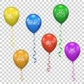 Vector ballon for party, birthday