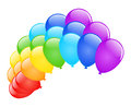 Vector balloons illustration colored glossy on white Stock Photography