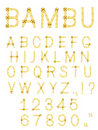 Vector bamboo stick abc alphabet Royalty Free Stock Image
