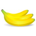 Vector bananas on white background Royalty Free Stock Photos