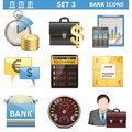Vector bank icons set on white background Stock Image
