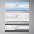 Vector banner background white line paper origami this is file of eps format Stock Images