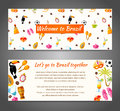Vector banner on a Brazilian theme. Royalty Free Stock Photo