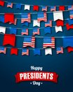 Garlands Of USA Flags. National Holiday In America