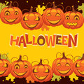Vector banner halloween pumpkin illustration Royalty Free Stock Photo