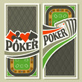 Vector banner of holdem Poker Royalty Free Stock Photo