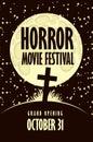 Banner for horror movie festival, scary cinema