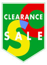 Vector banner - Sales clearance Royalty Free Stock Photo