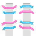 Vector banner set of ribbons for your text Stock Photography